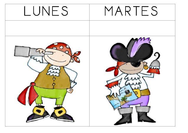 Dias de la semana piratas by Sara Sánchez via slideshare