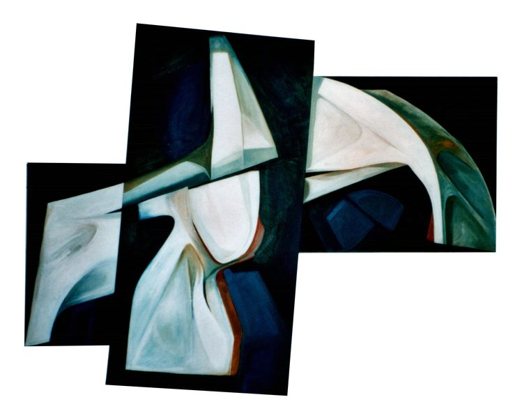 ABSTRACT PAINTING - OIL ON BOARDS