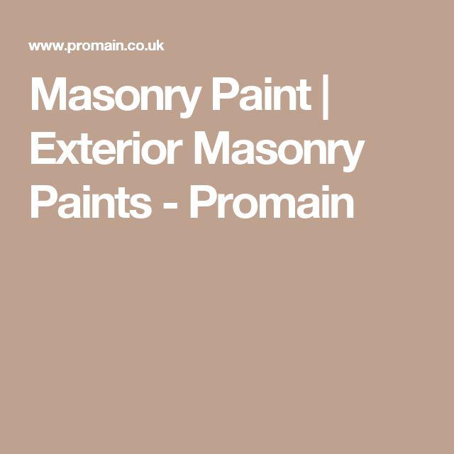 Masonry Paint | Exterior Masonry Paints - Promain