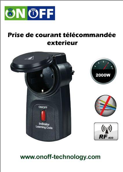 Prise de courant télécommandée exterieur Programmez et commandez à - eclairage exterieur detecteur automatique
