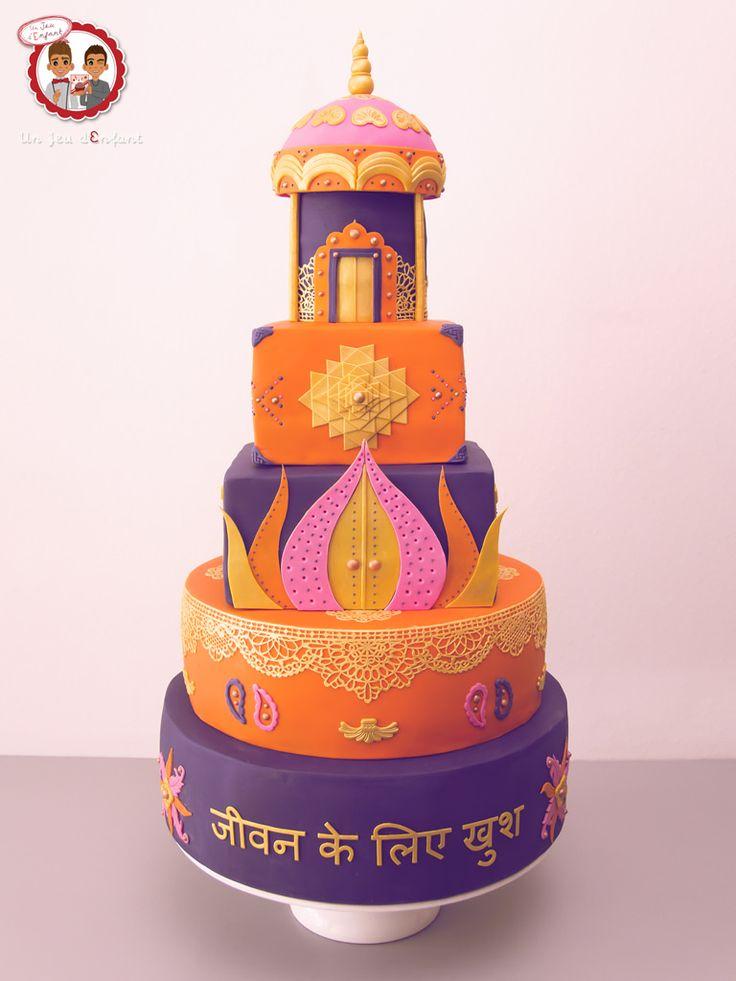 Wedding Cake Bollywood - Gâteau de mariage thème BOllywood - Un Jeu d'Enfant Cake Design Nantes France