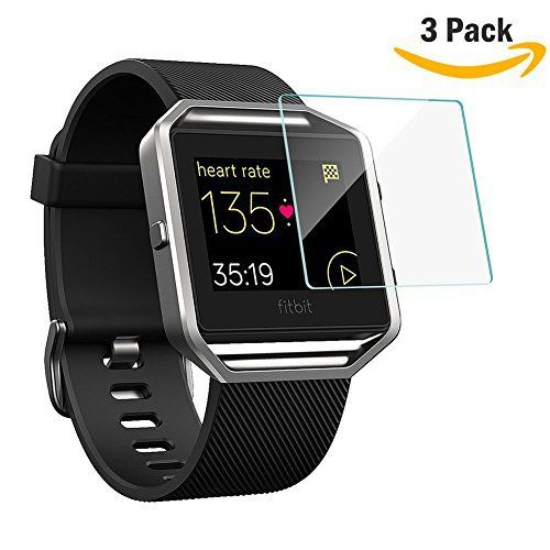 [3 Pack] HamFire Premium HD Tempered Glass Screen Protector for Fitbit Blaze Smart Fitness Watch - http://www.exercisejoy.com/3-pack-hamfire-premium-hd-tempered-glass-screen-protector-for-fitbit-blaze-smart-fitness-watch/fitness/
