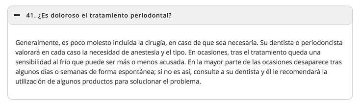 ¿Es doloroso el tratamiento periodontal?