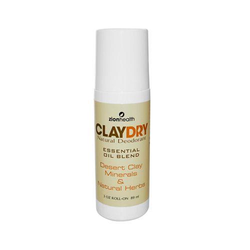 Zion Health Clay Dry Natural Deodorant 3 Oz