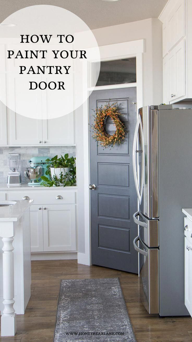 You Can Transform The Look Of Your Kitchen Easily By Painting Your Pantry Door Its A Quick And Inexpe Kitchen Pantry Doors Painted Pantry Doors Painted Pantry