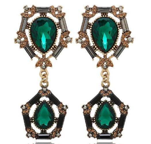 Timeless Petite Green Earrings available at www.stellanemiro.com