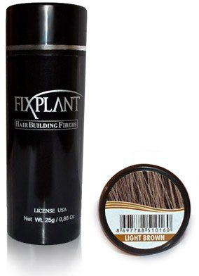 "FIXPLANT Keratin Hair Building Fibers, Hair Loss Concealer. the 30 Second ""HAIR TRANSPLANT"" Regular Size 25 gm, 0.88 oz (Light Brown) by Fixplant. $23.95. Works perfectly for both men and women. Made from pure organic protein, the same protein your natural hair is made from.. Instantly eliminates appearance of thinning hair and bald spots. Fixplant Hair Product is an instant solution to balding. 100% SAFE drug free hair loss solution and prudent alternative to costl..."