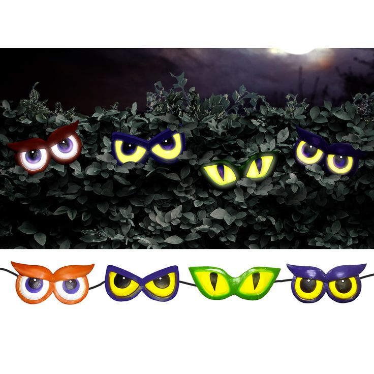 Spooky 4 Eyed Creepers Animated Halloween Prop