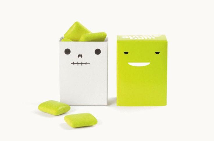 El packaging de chicles Gubble Bum para una marca de chicles divertida y retorcida  Jesse Kirsch