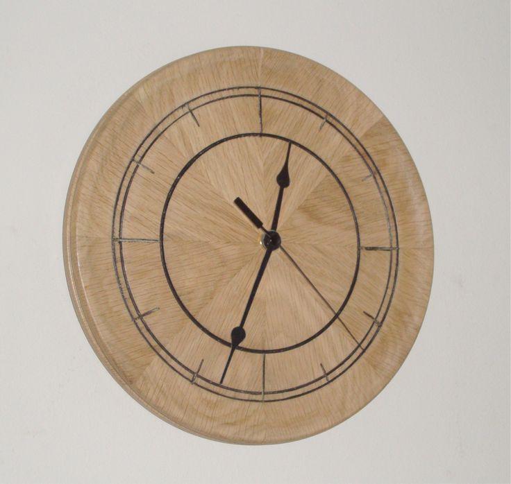"Solid Wooden English Oak 10"" (250mm) Wall Clock by FrameFocus on Etsy"