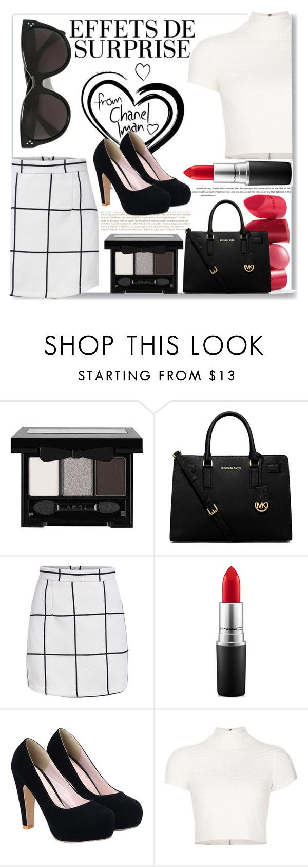 """Rock Out Your Style!"" by puppyloverbff ❤ liked on Polyvore featuring NYX, Rossetto, MICHAEL Michael Kors, MAC Cosmetics, Alice + Olivia and CÉLINE"