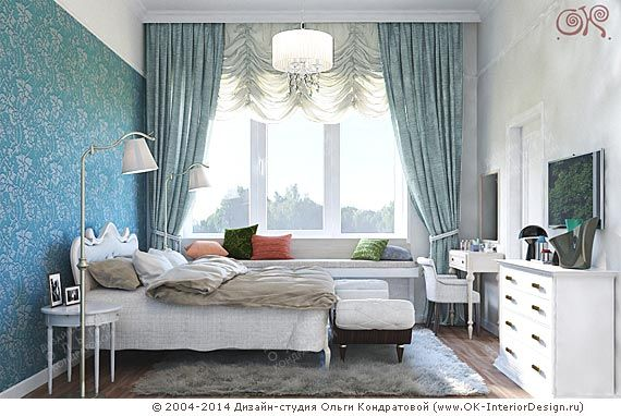 Дизайн гостевой спальни http://www.ok-interiordesign.ru/ph18_bedroom_interior_design.php