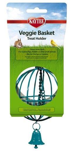 Kaytee Veggie Basket Wholesome Alfalfa Hay Treat Holder Guinea Pigs Rabbits
