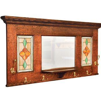 Hall Mirror  Coat Rack Combo Woodworking Plan by Woodcraft Magazine