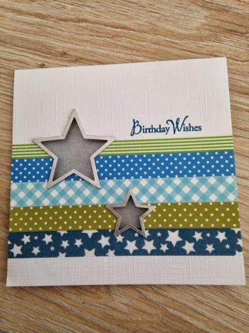 Happy Birthday #Washi Tape Card