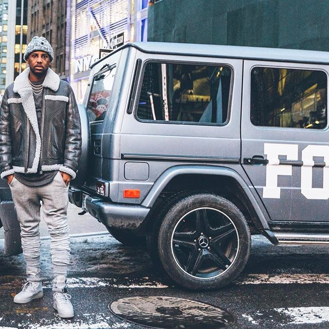 Instagram media by myfabolouslife - might pull up in a Nike G-Wagon just to check you.. @nike  #SFAF1CementRelease #HouseofHoopsTimesSquare #NYC