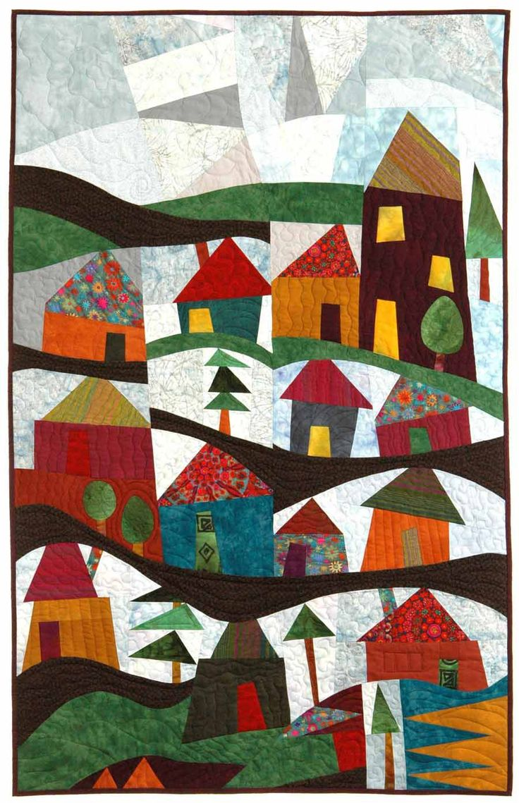 1192 best quilts houses images on pinterest house quilts for Modern house quilt block
