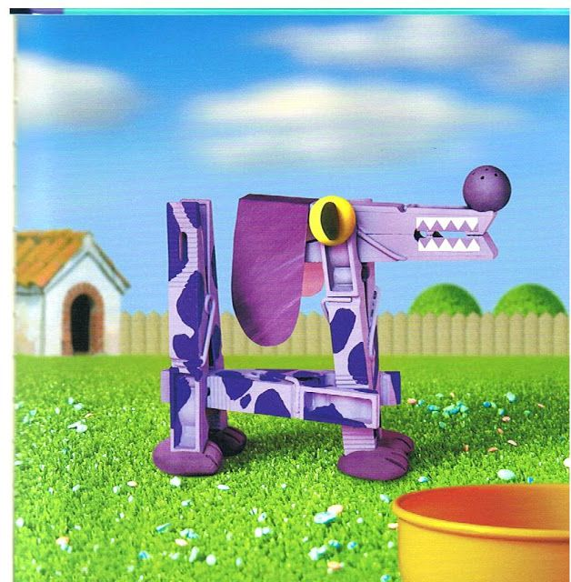 Hond van wasknijpers / Manualidades