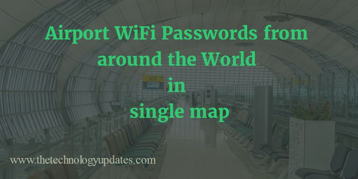 Waiting for the connecting flight or delayed flight on airport for few hours is horrible. Get the airport WiFi passwords and enjoy using internet.