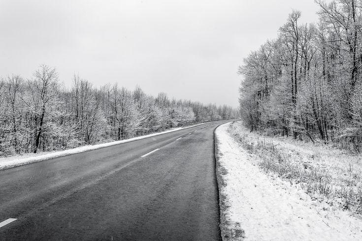 winter road - null