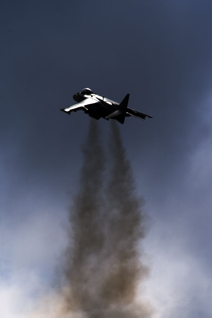 Harrier jump jet, can take off and land vertically, like a helicopter, sometimes that is just what is called for.
