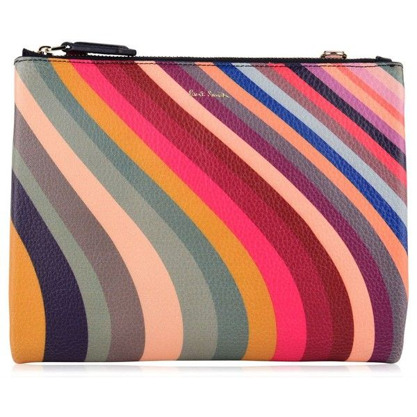 PAUL SMITH Swirl Cross Body Pouch Bag ($540) ❤ liked on Polyvore featuring bags, handbags, shoulder bags, zipper pouch, leather zipper pouch, leather crossbody handbags, leather handbags and zip shoulder bag