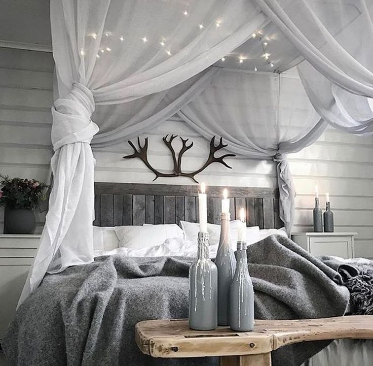 60 Amazing Canopy Bed with Sparkling Lights Decor Ideas & Best 25+ Rustic canopy beds ideas on Pinterest | Wood canopy Wood ...