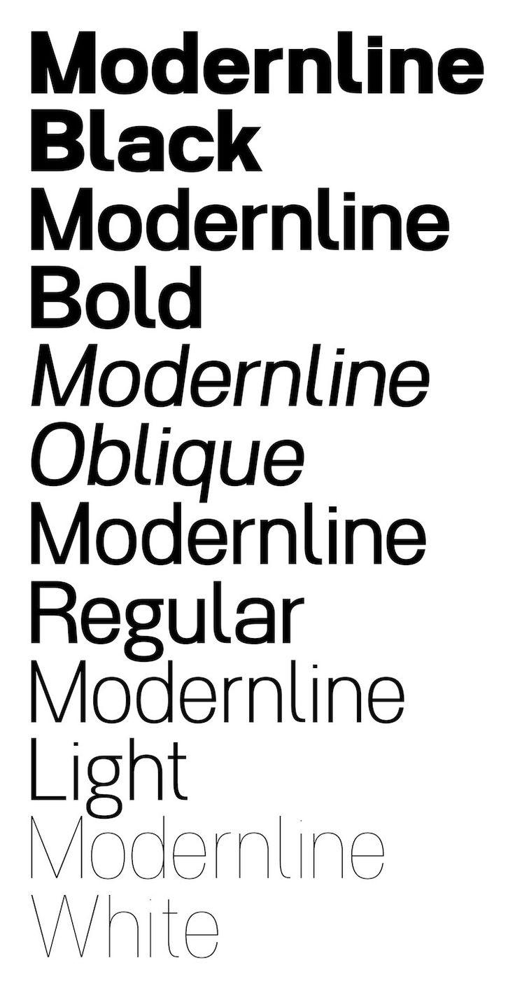 #Typeface -- Modernline: