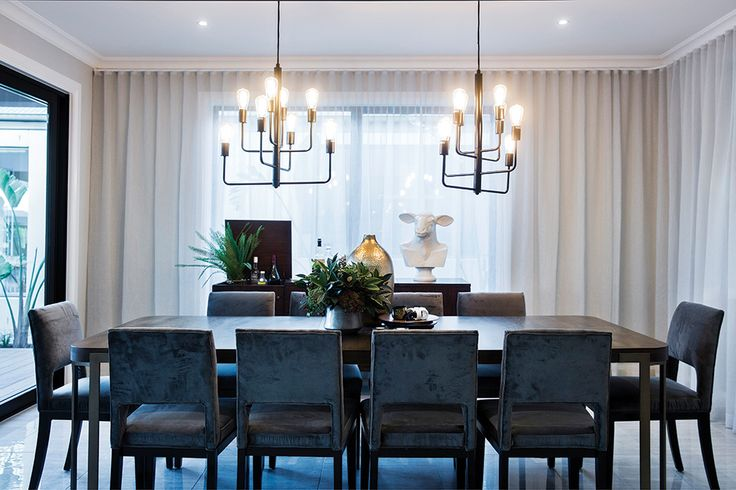 Entertain in style with a San Francisco styled dining room on display in the Waldorf at Berwick Waters.