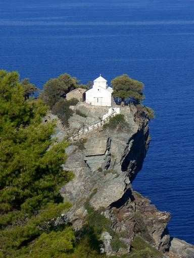 The church from the movie Mamma Mia, in Skiathos, Greece.