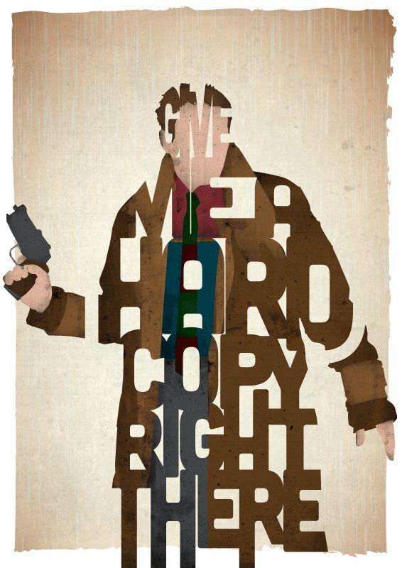 Harrison Ford as Rick Deckard in Blade Runner by Ayse T. Werner