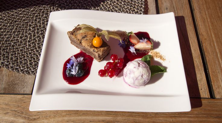 Restaurant Origo, Dessert #visitsouthcoastfinland #hanko #Finland #restaurantorigo #origo #food #restaurant #dessert #berries #cake #icecream