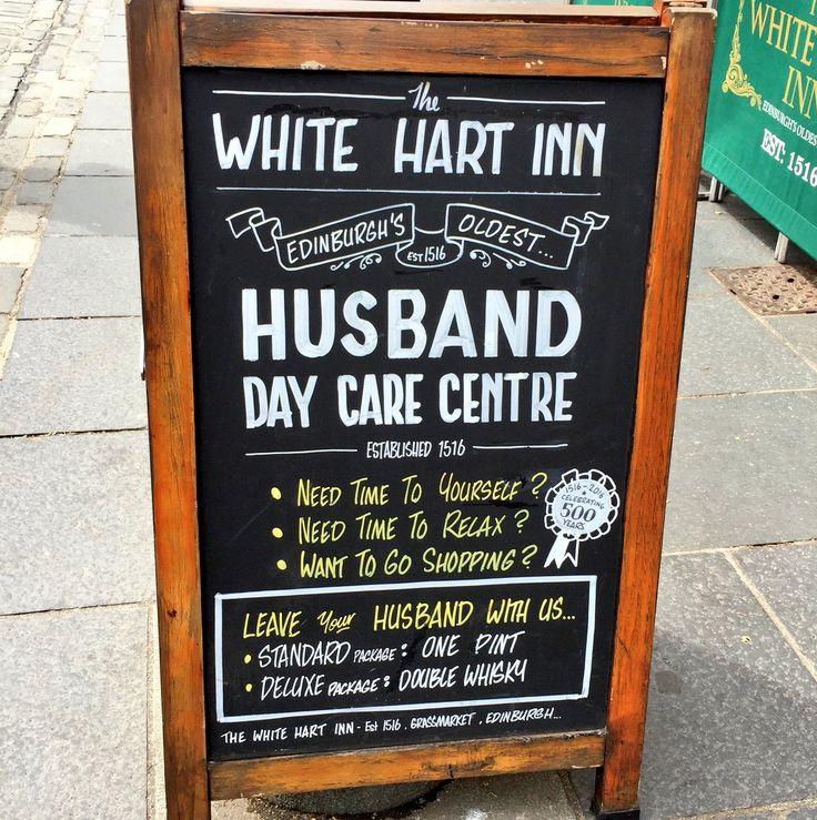 Outside Edinburgh's oldest pub #ScottishPubSigns