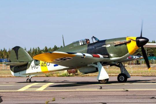 Hawker Hurricane MK IIA, HC-465 Finnish air force at an Airshow in Oulu, Finland.