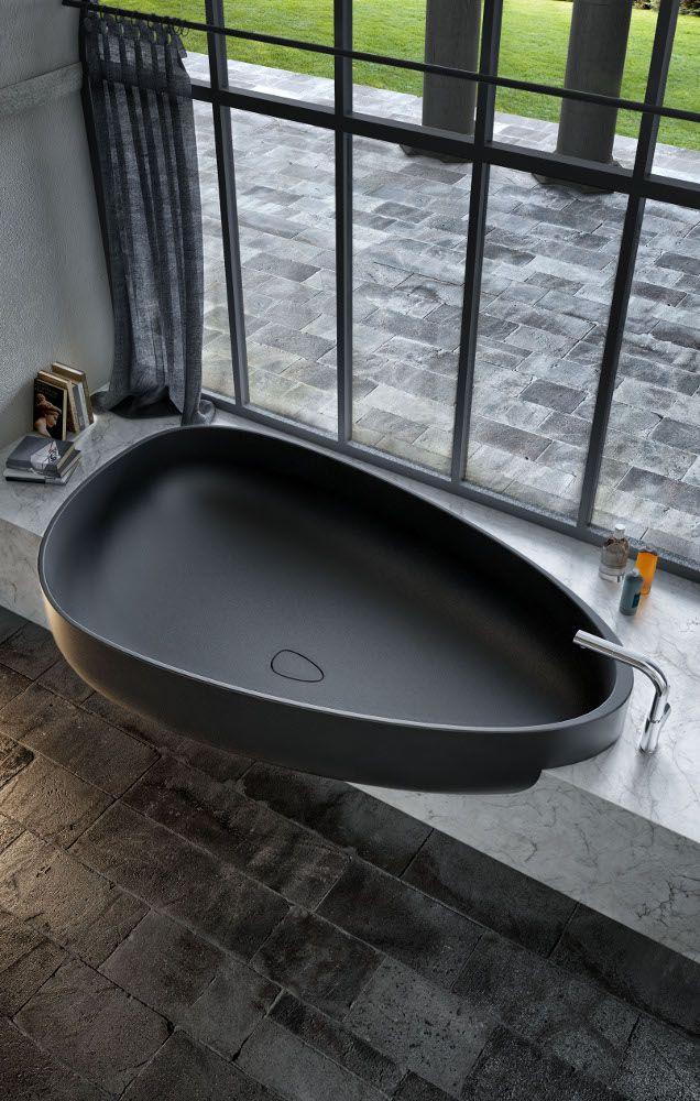 Pietraluce® #bathtub BEYOND by GLASS IDROMASSAGGIO | #design Claudia Danelon, Federico Meroni