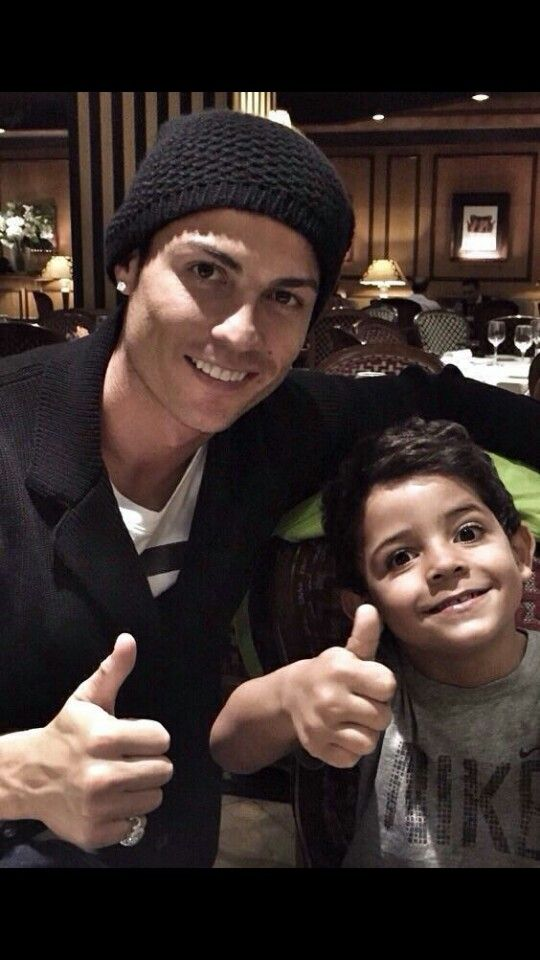 Cristiano Ronaldo and his son Cristiano Ronaldo Jr, cute.