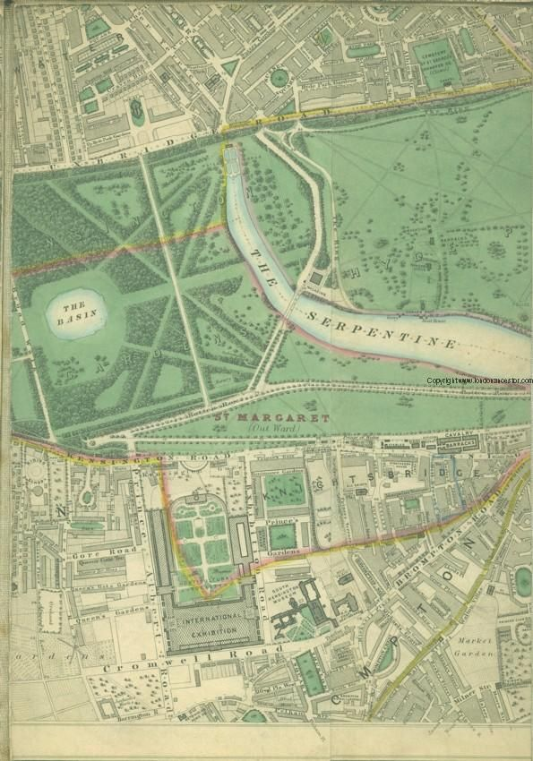 Map of Hyde Park, 1862 from Land Registry for England and Wales