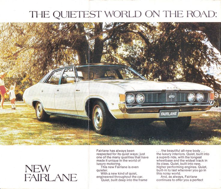 1972 ZF Fairlane Ford Page 2 & 3 Aussie Original Magazine Advertisement