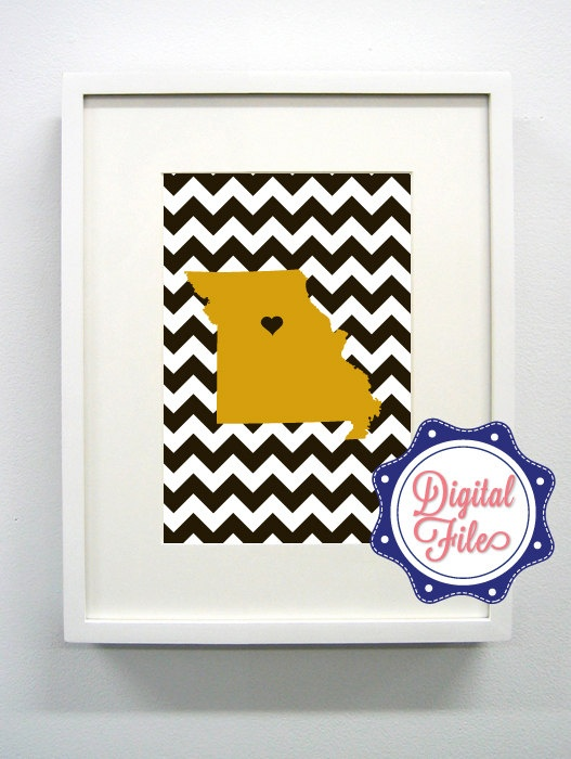 @Brittany Newell Mizzou Black and Gold Missouri Digital Print -  Go Tigers. $12.00, via Etsy. Want it!!