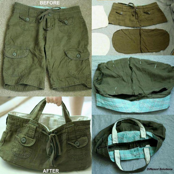 Recicled bag: pants to bag