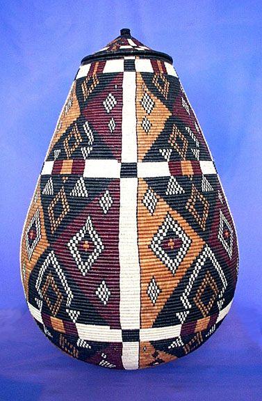 Africa | Zulu basket from South Africa | via Zanzibar Trading