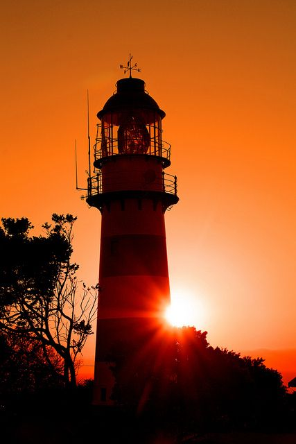 Greenpoint Lighthouse, Kwa-Zulu Natal - This cast Iron lighthouse was erected in 1905 to warn ships of the Aliwal Shoal and is the oldest on the coast of Kwa-Zulu Natal, South Africa.