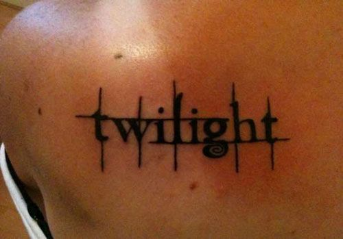 Lettering Twilight Tattoo