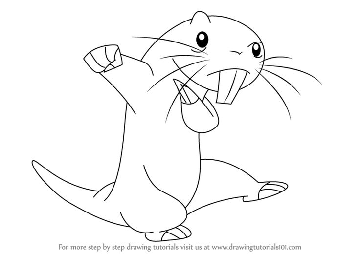 Learn How to Draw Rufus from Kim Possible (Kim Possible) Step by Step : Drawing Tutorials