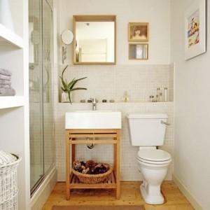 limpieza y orden en baños pequeños