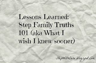 Lessons Learned: Step Family Truths 101 (aka what I wish I knew sooner)  I Hope we do a good job; we surely try! Lil V makes it easier because he is beyond amazing at his very young age!