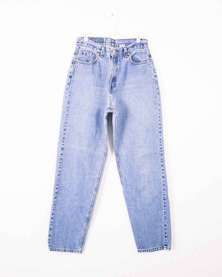 Vintage (Size Large) Levis 560 High Waisted Denim Jeans - Mint Threads - 2