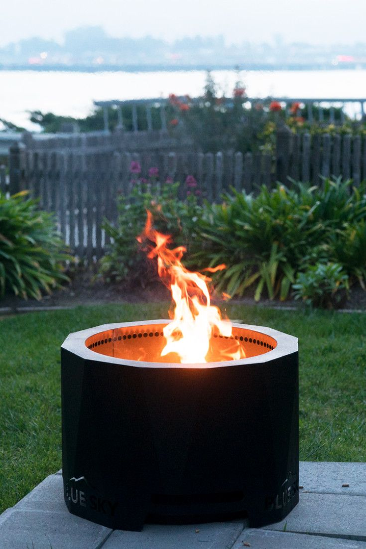 Always Use The Patio Pellet Fire Pit On A Hard Level Non Combustible Surface Such As Stone Dirt Or S Small Yard Landscaping Small Backyard Patio Small Yard