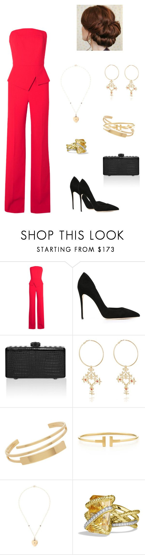 """""""."""" by autumnhuynh ❤ liked on Polyvore featuring Roland Mouret, Dolce&Gabbana, Bougeotte, Yves Saint Laurent, Tiffany & Co. and David Yurman"""