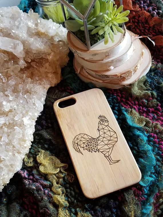 Geometric Chicken bamboo wood iPhone case for iPhone 6 iPhone